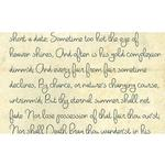 Savage 53X18 Printed Background - Romantic Script