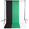 Savage Green, Black  and  White Muslin Backdrops with Background Support Stand