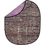 Savage 5x7 Collapsible Purple/Grunge Brick Backdrop