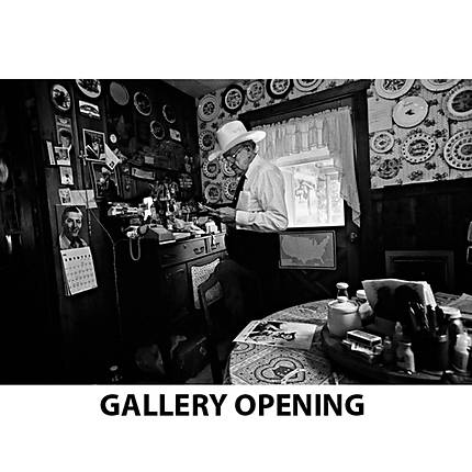 Gene Lowinger Black  and  White Gallery Opening