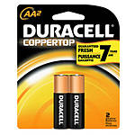 Duracell Coppertop AA (2-pack) Alkaline Batteries (Case=56cards, 4bx x 14cds