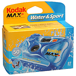 KODAK WATER SPORT SINGLE-USE   27 EXP  SEE EKC402 OR FJC302