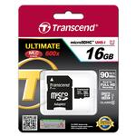 Transcend 16GB 300x UHS-1 Class 10 Micro SDHC Memory Card