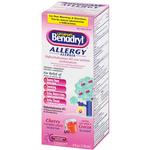 Benadryl Childrens Allergy Liquid 4oz Cherry Flavor