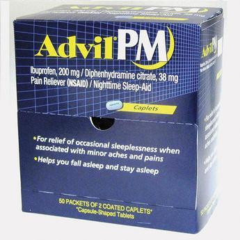 Advil PM Caplets Box Of 50 2pks