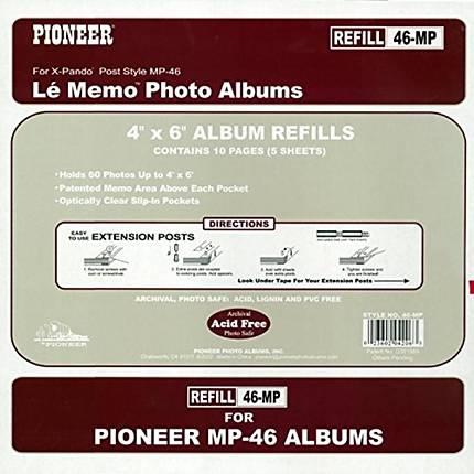 Pioneer Album Refill Pages for MP-46 Album (60 Photos)