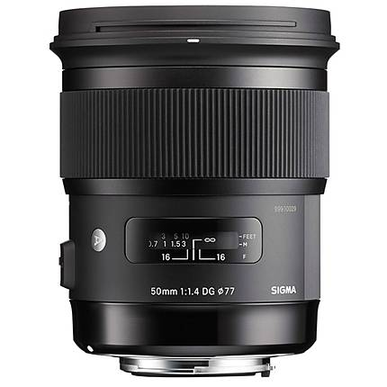 Sigma 50mm f/1.4 EX DG HSM Standard Lens for Nikon - Black